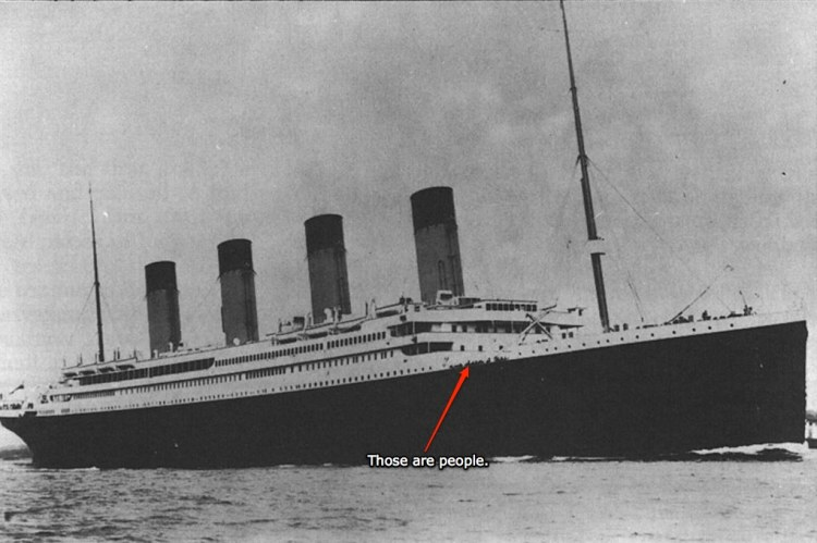 Pictured: the motherfucking Titanic.