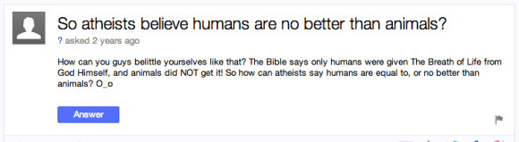 Yahoo Answers: for when you want an example of someone thinking something stupid.